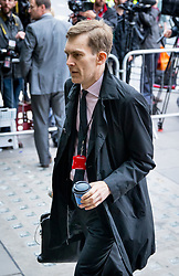 © Licensed to London News Pictures. 09/06/2017. London, UK. Labour Party's Executive Director of Strategy and Communications SEUMUS MILNE arrives at Labour Party HQ this morning, following a general election yesterday. Parliament is hung, with no individual party gaining an overall majority. Photo credit : Tom Nicholson/LNP