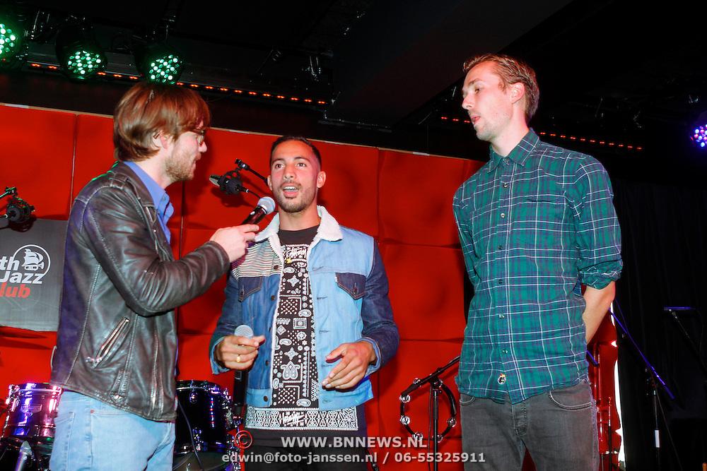 NLD/Amsterdam/20120918 - Cd Box presentatie Doe Maar ,Chiel Beelen met Twan van Steenhoven en Willy Polderneger