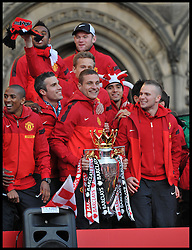Manchester United Players greet fans in Albert Square, Manchester,  As Manchester United celebrate winning their 20th league title winning the Premier League, Monday May 13, 2013. Photo by: Andrew Parsons / i-Images