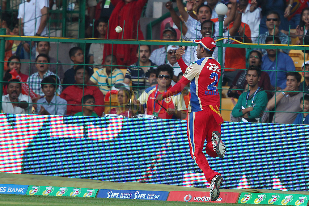 Rahul saves the four during match 12 of the Pepsi Indian Premier League between The Royal Challengers Bangalore and The Kolkata Knight Riders  held at the M. Chinnaswamy Stadium, Bengaluru  on the 11th April 2013..Photo by Ron Gaunt-IPL-SPORTZPICS   ..Use of this image is subject to the terms and conditions as outlined by the BCCI. These terms can be found by following this link:..http://www.sportzpics.co.za/image/I0000SoRagM2cIEc