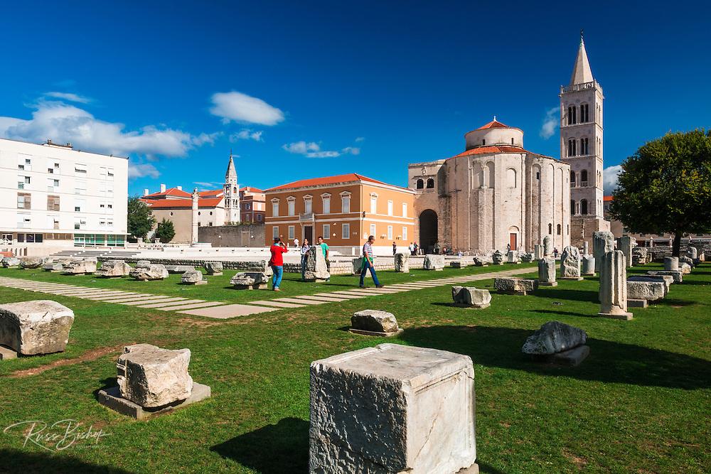St. Donatus Church and Roman forum, Old Town Zadar, Dalmatian Coast, Croatia