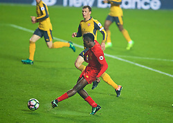 LIVERPOOL, ENGLAND - Monday, December 12, 2016: Liverpool's Sheyi Ojo scores the third goal against Arsenal during FA Premier League 2 Division 1 Under-23 match at Anfield. (Pic by David Rawcliffe/Propaganda)