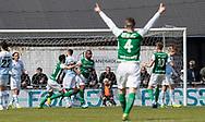 FODBOLD: Rafaelson Fernandes (Næstved) jubler efter scoringen til 0-1 under kampen i NordicBet Ligaen mellem FC Helsingør og Næstved Boldklub den 12. maj 2019 på Helsingør Stadion. Foto: Claus Birch