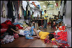 Clothing factory in Dharavi Slum in Mumbai