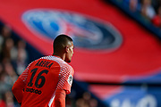Paris Saint Germain's French goalkeeper Alphonse Areola looks on during the French Championship Ligue 1 football match between Paris Saint-Germain and Girondins de Bordeaux on September 30, 2017 at the Parc des Princes stadium in Paris, France - Photo Benjamin Cremel / ProSportsImages / DPPI