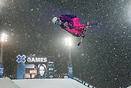 Marie Montinod at the Winter X Games in Aspen, Colorado.