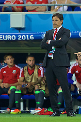 LYON, FRANCE - Wednesday, July 6, 2016: Wales' manager Chris Coleman during the UEFA Euro 2016 Championship Semi-Final match against Portugal at the Stade de Lyon. (Pic by David Rawcliffe/Propaganda)