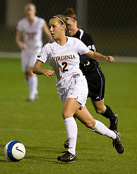 Virginia Cavaliers D Sarah Senty (2)..The #3 ranked Virginia Cavaliers Women's Soccer team faced the Maryland Terrapins at Klockner Stadium in Charlottesville, VA on October 25, 2007.