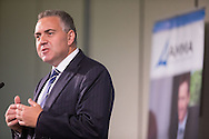Hon. Joe Hockey MP (Member For North Sydney, Shadow Treasurer) Addresses The 2013 AMMA Conference. 2013 Australian Mines And Minerals Association Conference. Crown Conference Center, Melbourne, Victoria, Australia. 17/05/2013. Photo By Lucas Wroe