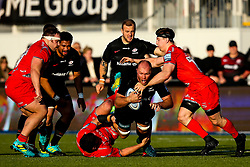 Schalk Burger of Saracens is tackled - Mandatory by-line: Robbie Stephenson/JMP - 17/11/2018 - RUGBY - Allianz Park - London, England - Saracens v Sale Sharks - Gallagher Premiership Rugby