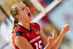 25.09.2011, Hala Pionir, Belgrad, SRB, Europameisterschaft Volleyball Frauen, Vorrunde Pool A, Deutschland (GER) vs. Frankreich (FRA), im Bild Maren Brinker (#15 GER / Pesaro ITA) // during the 2011 CEV European Championship, First round at Hala Pionir, Belgrade, SRB, Germany vs France, 2011-09-25. EXPA Pictures © 2011, PhotoCredit: EXPA/ nph/  Kurth       ****** out of GER / CRO  / BEL ******