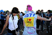 Two babyshambles fans dancing in the crowd, Metro Weekender, Get Loaded In The Park, London 2006