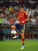 Sergio Busquets of Spain