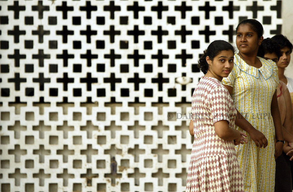 A group of girls at the Immaculate Conception School in Matara on the south coast of Sri Lanka, on January 14, 2005..Photo by Darrin Zammit Lupi