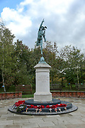 The Royal Corps Of Signals Memorial at the National Memorial Arboretum, Croxall Road, Alrewas, Burton-On-Trent,  Staffordshire, on 29 October 2018. Picture by Mick Haynes.
