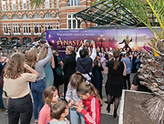 2019, August 13. Grand Hotel Amrath Kurhaus, Scheveningen, The Netherlands. at the  state banquet to celebrate the start of the rehearsals for the Anastasia musical.