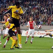 NLD/Amsterdam/20060928 - Voetbal, Uefa Cup voorronde 2006, Ajax - IK Start, Markus Rosenberg schiet zijn 1e doelpunt