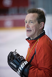 Doug Bradley, head coach of HK Acroni Jesenice ice-hockey team for season 2008/2009 at practice in Arena Podmezaklja, Jesenice, on September 24, 2008. (Photo by Vid Ponikvar / Sportal Images)