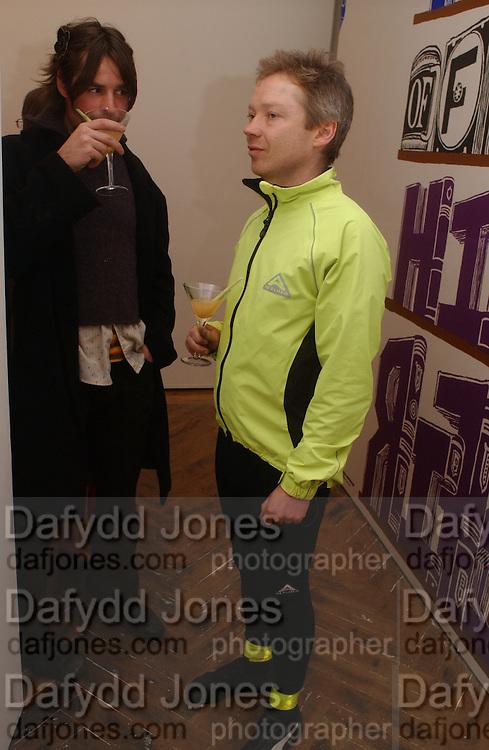 Paul Desborough and Simon Patterson. M/M ( PARIS). HAUNCH OF VENISON. LONDON. 16 February 2006. ONE TIME USE ONLY - DO NOT ARCHIVE  © Copyright Photograph by Dafydd Jones 66 Stockwell Park Rd. London SW9 0DA Tel 020 7733 0108 www.dafjones.com