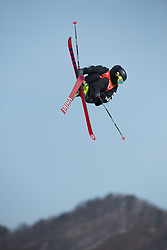 February 18, 2018 - Pyeongchang, South Korea - FINN BILOUS of New Zealand competes in the Mens Ski Slopestyle competition Sunday, February 18, 2018 at Phoenix Snow Park at the Pyeongchang Winter Olympic Games.  Photo by Mark Reis, ZUMA Press/The Gazette (Credit Image: © Mark Reis via ZUMA Wire)