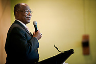Dr. James Lyons, transitional college president, speaks during the Legacy/Candlelight service on Friday, April 27, 2018, in the Lehman Center at Concordia College Alabama in Selma, Ala. LCMS Communications/Erik M. Lunsford