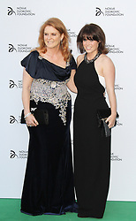 © Licensed to London News Pictures. Sarah Ferguson and  Princess Eugenie at the  Novak Djokovic Foundation London gala dinner, The Roundhouse, London UK, 08 July 2013. Photo credit: Richard Goldschmidt/LNP
