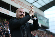 Burnley Manager Sean Dyche during the Sky Bet Championship match between Preston North End and Burnley at Deepdale, Preston, England on 22 April 2016. Photo by Pete Burns.