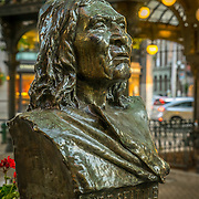 James Wehn bust of Chief Seattle, Pioneer Square, Seattle, WA