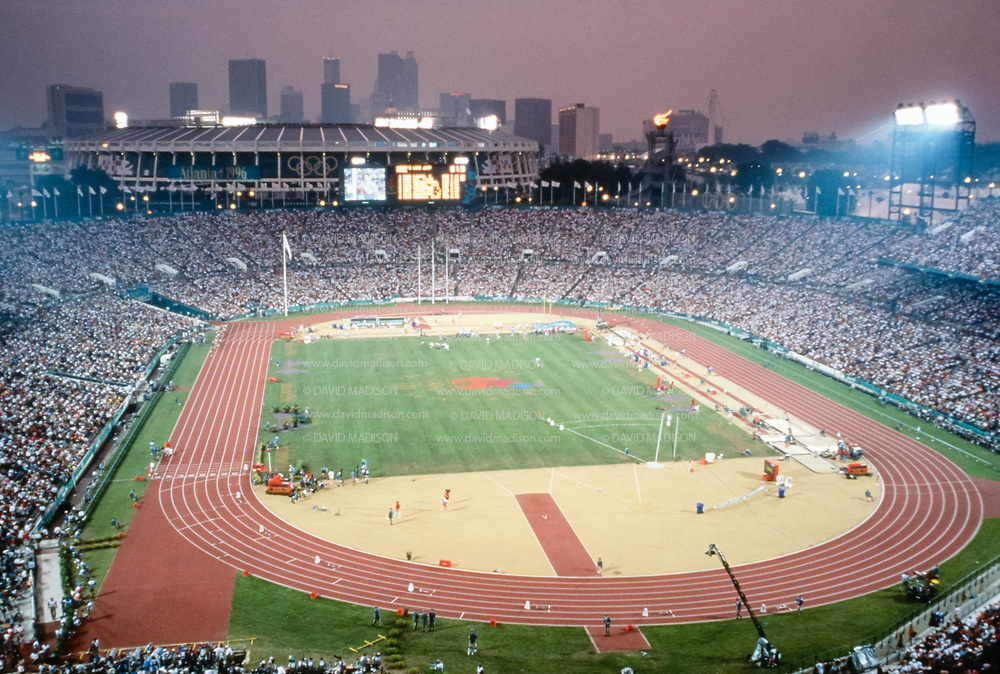 ATLANTA -  AUGUST 2:  A general view of the Centennial Olympic Stadium during the track and field competition of the 1996 Olympic Games on August 2, 1996 in Atlanta, Georgia. (Photo by David Madison/Getty Images)