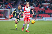 Doncaster Rovers Midfielder James Coppinger (26) during the EFL Sky Bet League 1 match between Doncaster Rovers and Bristol Rovers at the Keepmoat Stadium, Doncaster, England on 27 January 2018. Photo by Craig Zadoroznyj.