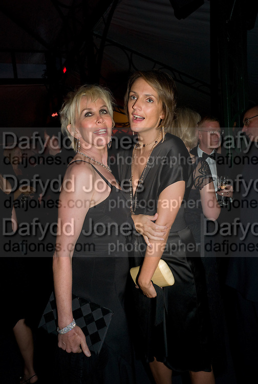 TRUDIE STYLER; SAFFRON ALDRIDGE, Royal Parks Foundation Summer party. Gala evening, sponsored by Candy & Candy on behalf of One Hyde Park. Hyde Park. London. 10 September 2008 *** Local Caption *** -DO NOT ARCHIVE-© Copyright Photograph by Dafydd Jones. 248 Clapham Rd. London SW9 0PZ. Tel 0207 820 0771. www.dafjones.com.