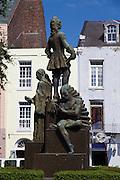 Jean Baptiste Le Moyne de Bienville statue, founder of New Orleans,  New Orleans, LA, USA