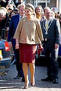 VLAARDINGEN - Koningin Maxima is aanwezig bij de uitreiking van de dertigste Geuzenpenning. De onderscheiding gaat dit jaar naar Migrant Offshore Aid Station (MOAS), een particuliere organisatie die in nood verkerende vluchtelingen op zee redt. COPYRIGHT ROBIN UTRECHT<br /> VLAARDINGEN - Queen Maxima attends the ceremony of the thirtieth Geuzenpenning. The award this year goes to Offshore Migrant Aid Station (MOAS), a private organization that rescues at sea refugees in distress. COPYRIGHT ROBIN UTRECHT