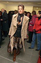 Artist TRACEY EMIN at an exhibition of leading artist Ellsworth Kelly at the Serpentine Gallery, Kensington Gardens, London followed by a dinner at the Riverside Cafe, London on 17th March 2006.<br />