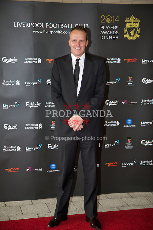 LIVERPOOL, ENGLAND - Tuesday, May 6, 2014: Former Liverpool player Dietmar Hamann arrives on the red carpet for the Liverpool FC Players' Awards Dinner 2014 at the Liverpool Arena. (Pic by David Rawcliffe/Propaganda)