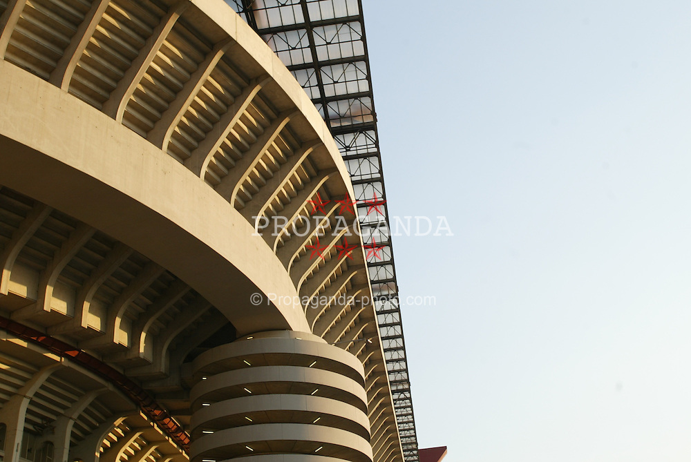 MILAN, ITALY - Saturday, September 6, 2003: A section of the San Siro Stadium. (Pic by David Rawcliffe/Propaganda)