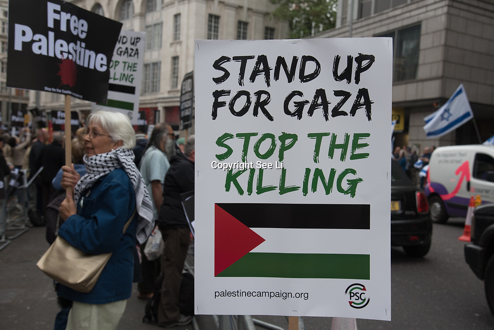 Protest: 70 Years of #Nakba, Stand up for #Gaza, Stop the Killing protest in solidarity with Palestine after 70 Yeas of Nakba and with the Great March of Return, calling for justice, equality and the implementation of the right of return on 11 May 2018 at Israeli Embassy, London,UK.