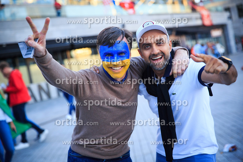 Supporters prior the UEFA Champions League final football match between Liverpool and Real Madrid at the Olympic Stadium in Kiev, Ukraine on May 26, 2018.Photo by Sandi Fiser / Sportida