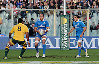 Florence, Italy -In the photo Parisse opposed by Palu.Artemio Franchi stadium in Florence Rugby test match Cariparma.Italy vs Australia. (Credit Image: © Gilberto Carbonari).