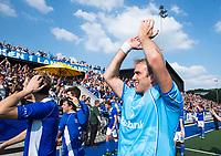 UTRECHT - keeper David Harte (Kampong)   na  de finale van de play-offs om de landtitel tussen de heren van Kampong en Amsterdam (3-1).   COPYRIGHT KOEN SUYK