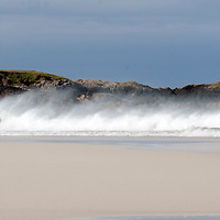 Picture by Christian Cooksey/CookseyPix.com  Waves break on Hosta beach, North Uist, The Outer Hebrides, Scotland