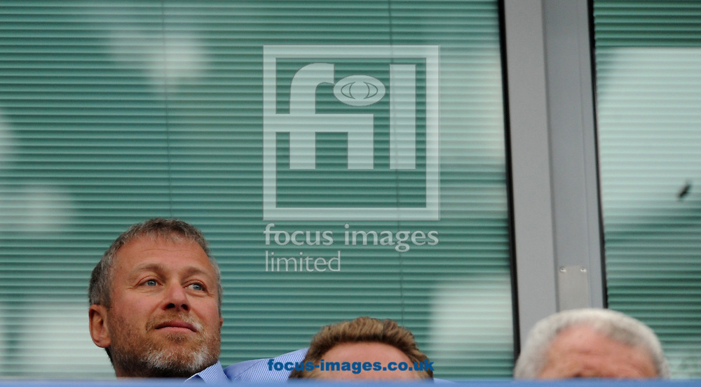 Picture by Daniel Hambury/Focus Images Ltd. 07813 022858.13/05/12.Owner of Chelsea Roman Abramovich pictured in the stands during the Barclays Premier League match at Stamford Bridge stadium, London