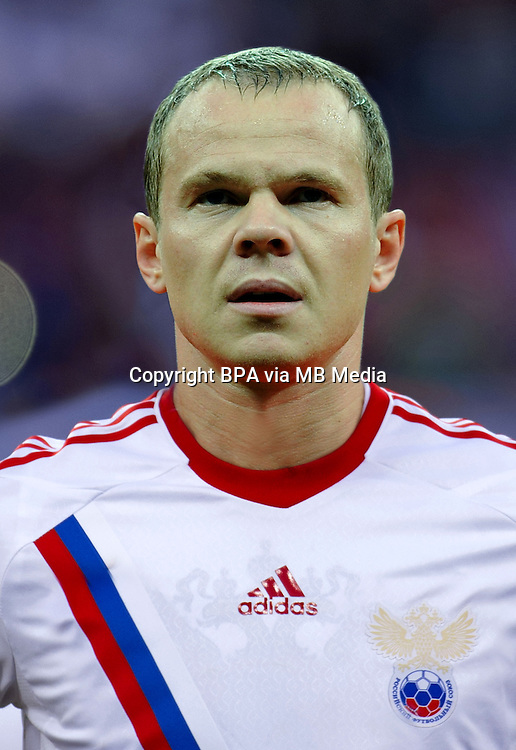 Football Fifa Brazil 2014 World Cup / <br /> Russia National Team - <br /> Aleksandr Anyukov of Russia