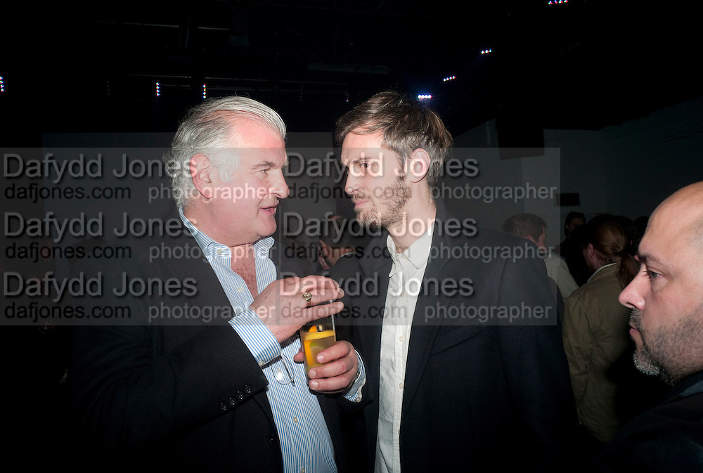 BRADLEY ADAMS; BEN JACKSON, Vanity Fair  hosted  UK Premiere and party for Beyond Time. A film about the artist William Turnbull made by his son Alex Turnbull. Narrated by Jude Law. I.C.A. London. 17 November 2011<br /> <br />  , -DO NOT ARCHIVE-© Copyright Photograph by Dafydd Jones. 248 Clapham Rd. London SW9 0PZ. Tel 0207 820 0771. www.dafjones.com.