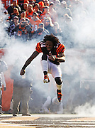 Sunday, Dec. 11, 2011  BENGALS SPORTS : Cincinnati Bengals Adam Jones makes his entrance on to the field during player introductions against the Houston Texans before their football game at Paul Brown Stadium. The Enquirer/Jeff Swinger
