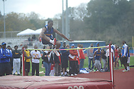 Oxford High's Justin Fondren in the high jump at the Oxford Eagle Invitational at Oxford High School in Oxford, Miss. on Monday, March 28, 2011.