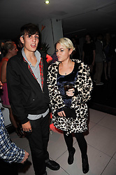 LOUIS SIMONON and JAIME WINSTONE at the W Hotels & American Express launch for the James Small collection at Number One Leicester Square, London on 22nd September 2010.