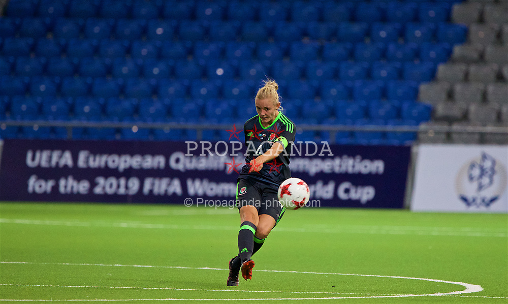 ASTANA, KAZAKHSTAN - Sunday, September 17, 2017: Wales' captain Sophie Ingle during the FIFA Women's World Cup 2019 Qualifying Round Group 1 match between Kazakhstan and Wales at the Astana Arena. (Pic by David Rawcliffe/Propaganda)