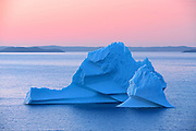 Iceberg in Bonavista Bay at sunset<br />