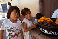 Children with fruit, Tooth decay from sugar cane